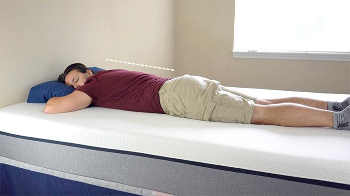 Stomach sleeping on Lull Mattress