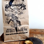 Easy Wedding Favors: Printed Brown Bags