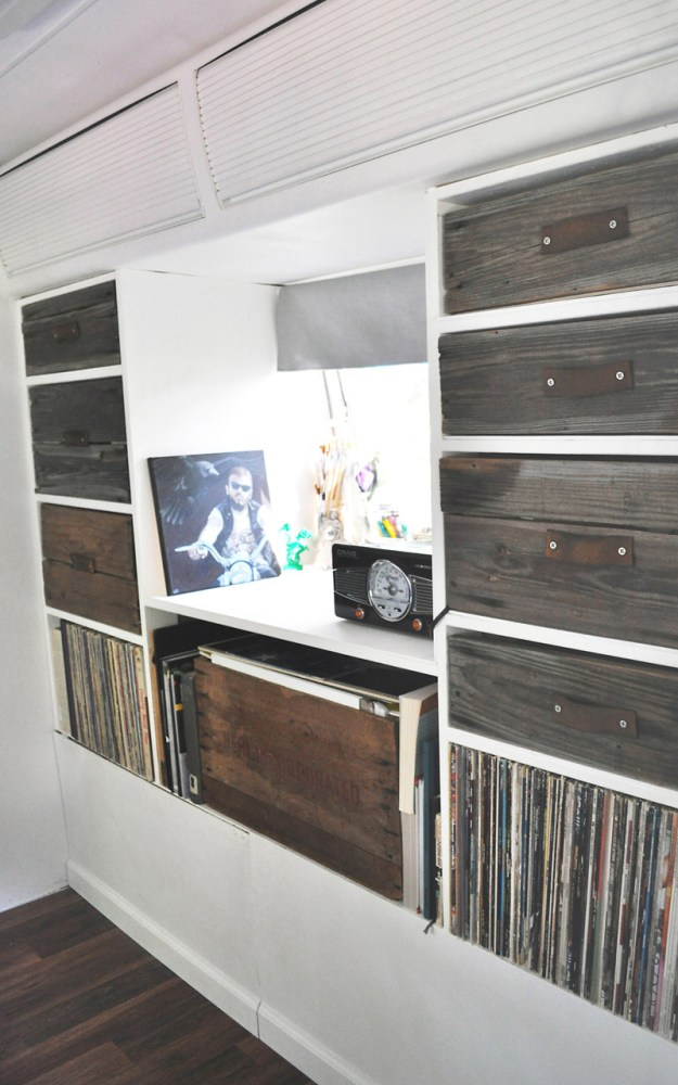 Custom Drawers and Shelves in an Airstream remodel