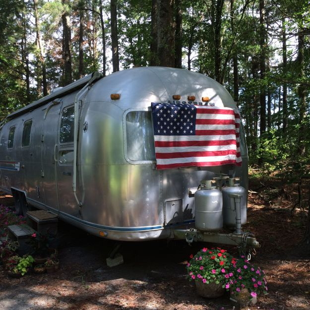 A patriotic Airstream