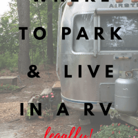 Where to Park and Live in a RV-- legally!