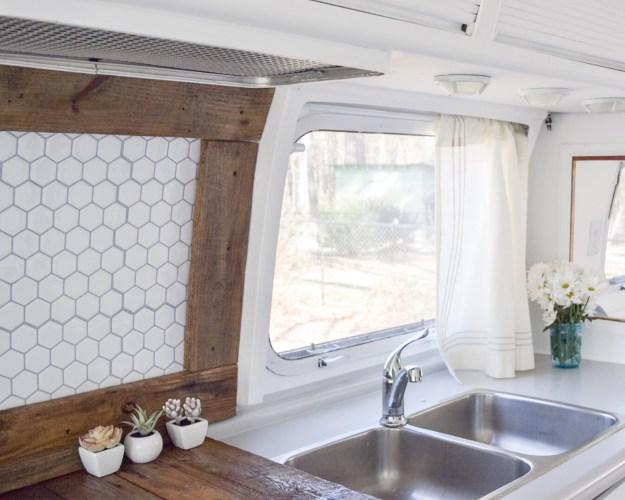 Kitchen in an Airstream