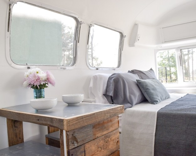 Bed in an Airstream