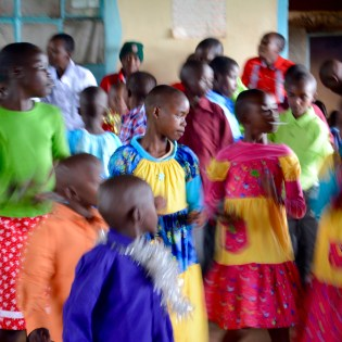 Singing and dancing are always part of a Kenyan celebration