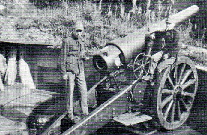 Canon de 15 cm 1877 avec servants