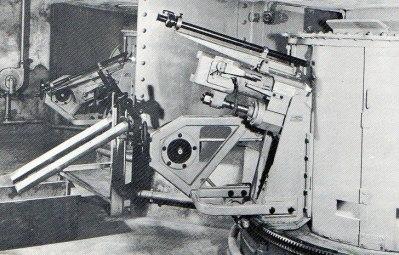 Canon de 7,5 cm 1903 sur affût de casemate à recul court transformé et équipé d'une lunette pour pointage direct
