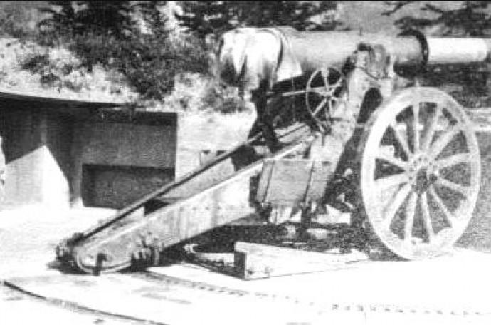 Canon de 15 cm 1877 en position