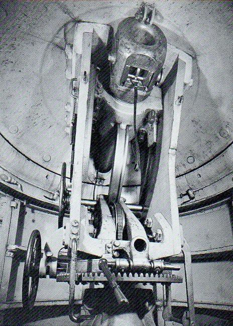 Obusier cuirassé 12 cm système Schumann - chambre de tir