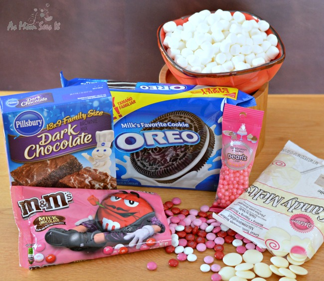 valentine oreo brownie bars