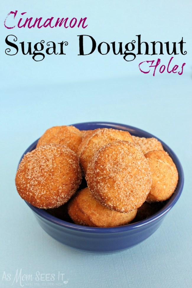 Cinnamon Sugar Doughnut Holes. I love donut holes, especially during the fall.