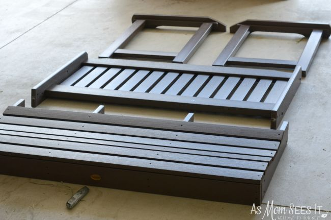 Synthetic Wood Bench assembly