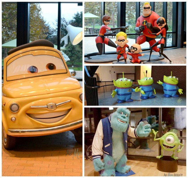 Pixar Studios characters on campus