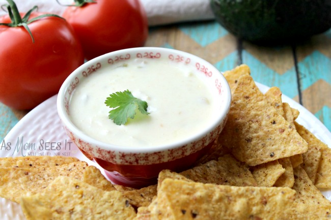 Slow Cooker Queso Blanco Party Dip With Tortilla Chips