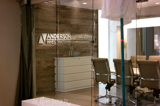 The Offices of Anderson Vaughn Investigations on ABC's The Catch