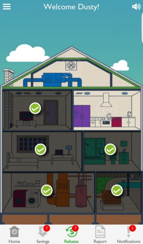 Homeselfe finds opportunities for energy savings throughout your home