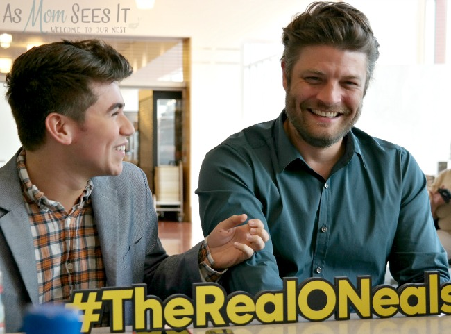 Noah Galvin and Jay Ferguson talk about being gay and practical jokes on set