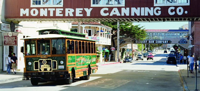 Shopping along Cannery Row