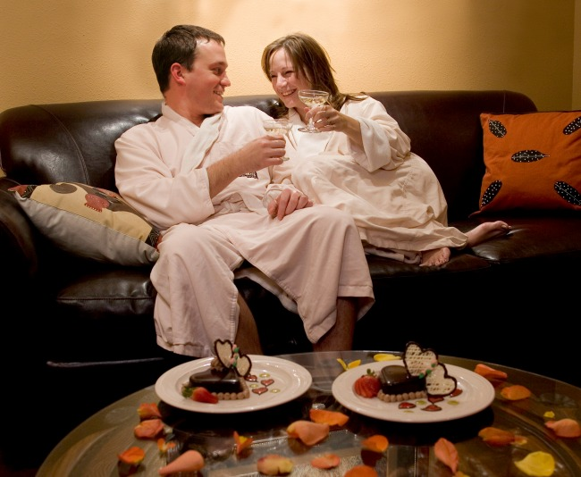 Guests relax with a rejuvenating massage at the Spa Kalahari Resort and Spa in Sandusky, Ohio.
