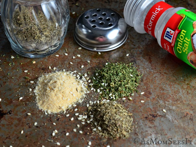 Seasonings for the pie crust crackers