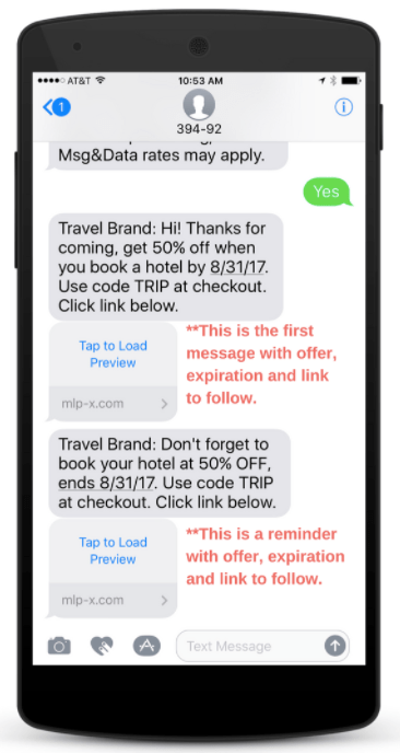 A reminder on great Text2Save deals means you'll never miss out!
