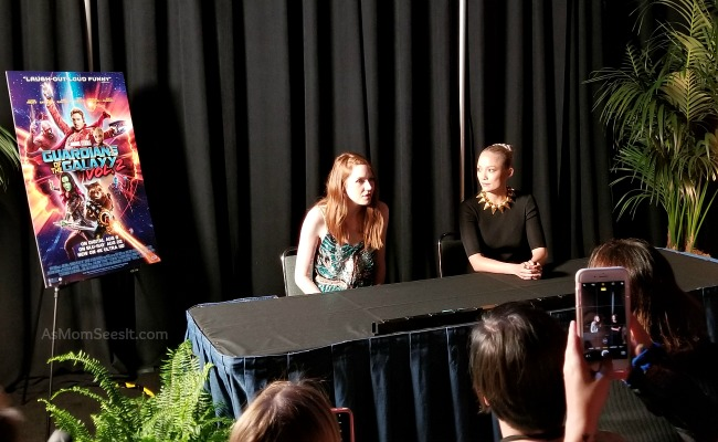 Interview with Karen Gillan and Pom Klementieff, Nebula and Mantis, from Guardians