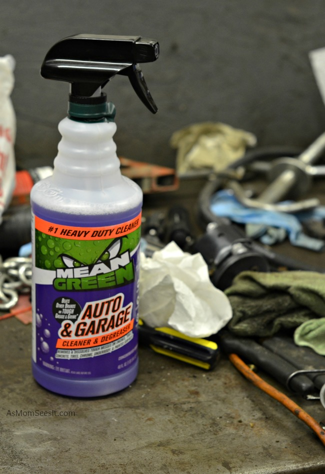 Mean Green Auto & Garage Cleaner is always on hand in our garage