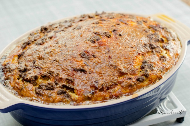 Egg, hash brown, and sausage casserole for the holidays recipe