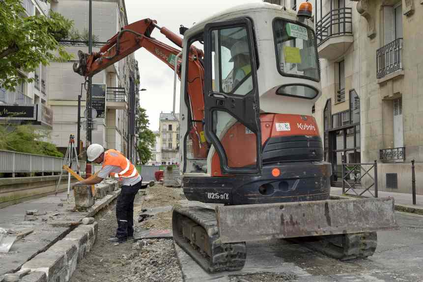 Renovation trottoirs rue Felix Faure