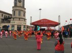 Signs you're running a race in China: organized dancing