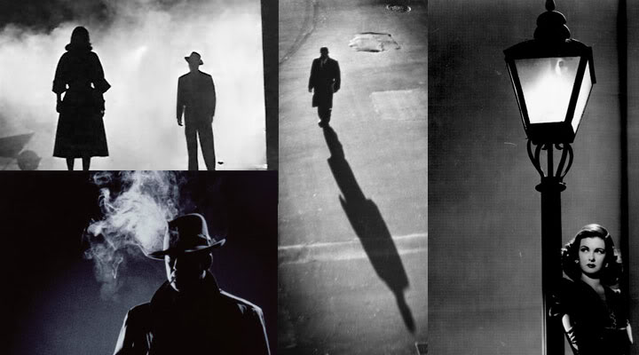 Iconic images of film noir.