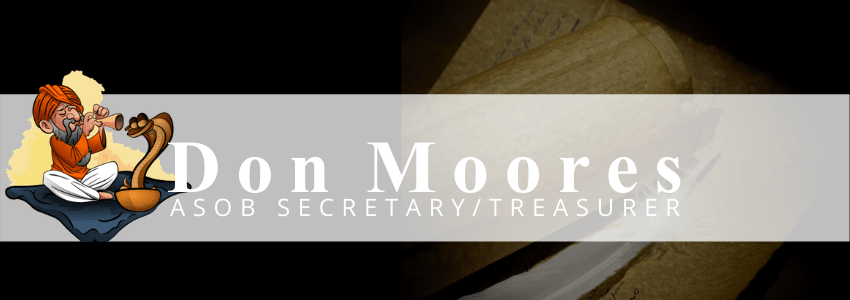 Read more about the article SECRETARY/TREASURER Don Moores
