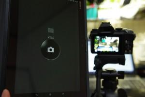 画面にはレリーズボタンだけデカデカと表示されるモード
