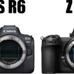 EOS R6とZ 6の比較