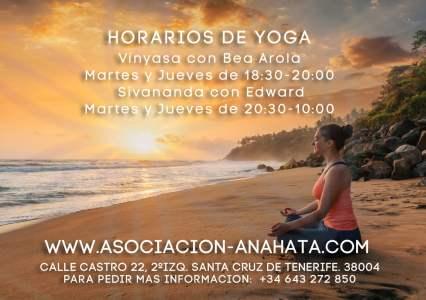 Actualización de Horarios de Yoga Septiembre 2019