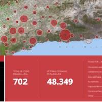 Mapa de fosas de las víctimas franquismo. Andalucía