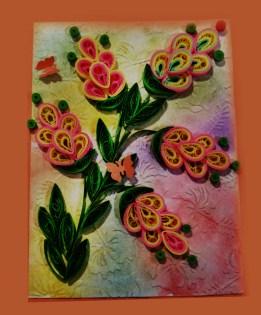 Quilling, tarjeta decorativa