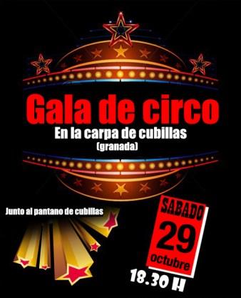 cartel gala de circo cubillas