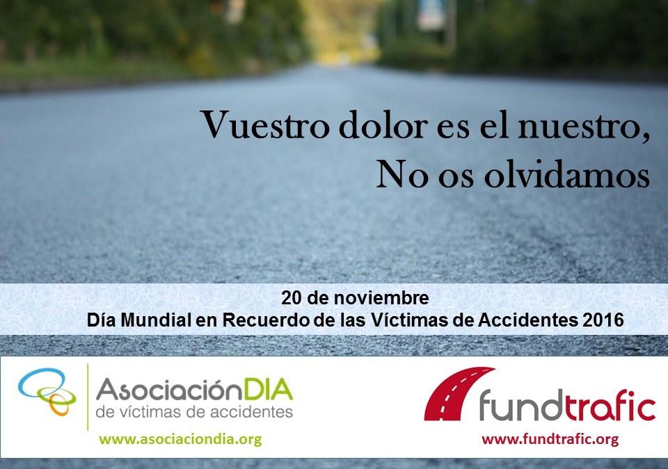 """DIA se suma a la conmemoración del """"día de las víctimas de la violencia vial"""" y propone cinco líneas de actuación"""