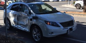 accidente coche autónomo google
