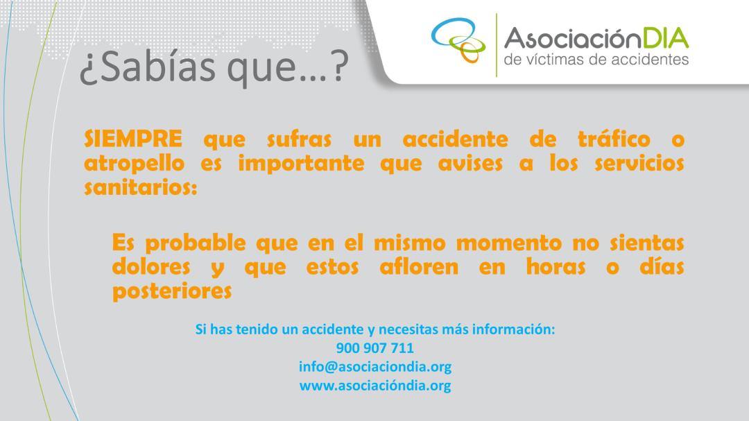 En caso de accidente -Avisar a los servicios sanitarios