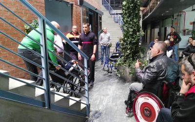 Reportaje: Curso de emergencias con personas con discapacidad (limitaciones, barreras, movilidad…)