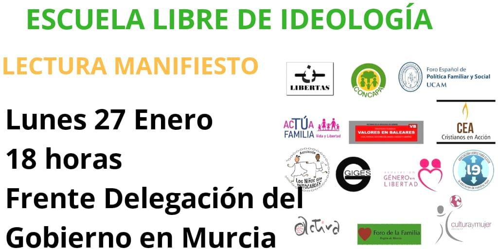 Escuela libre de ideología. Lectura de manifiesto 27/01/2020