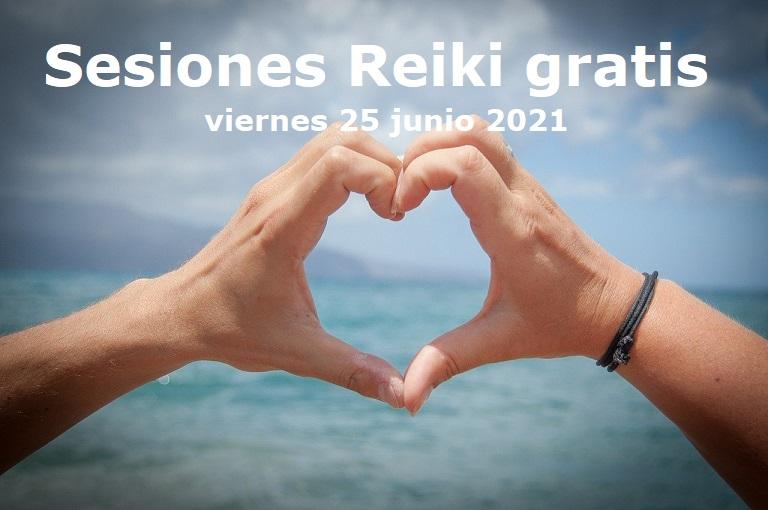 Sesiones Reiki gratis Junio 2021