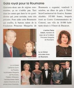 Tribune-des-Arts-nov-2007, Gala royal pour la Roumanie