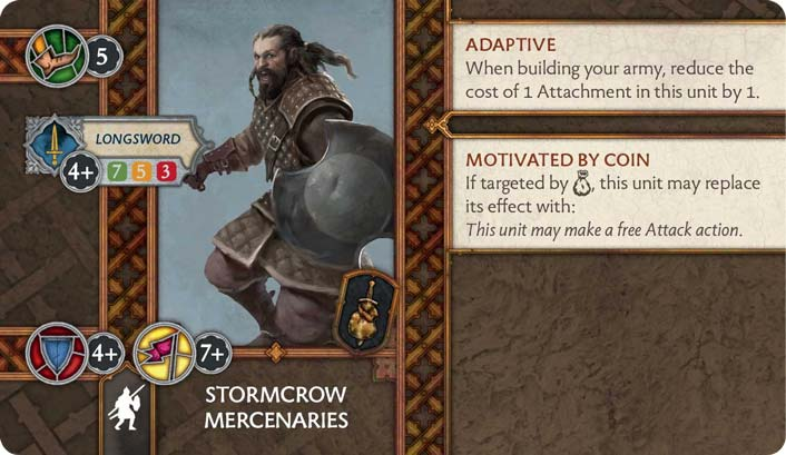 Stormcrow Mercenaries (Verso) US