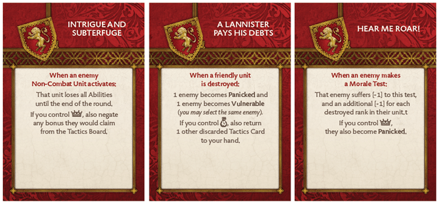 Lannister Base Tactics Deck 1