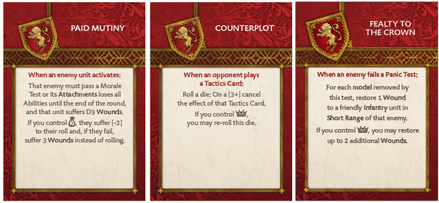 Lannister Base Tactics Deck 2