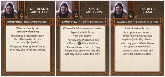 Ramsay Snow - Bastard of Bolton Tactics