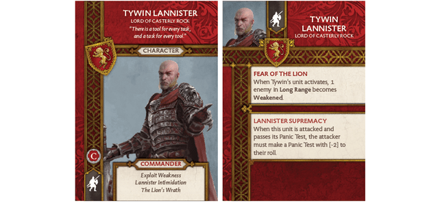 Tywin Lannister - Lord of Casterly Rock Card