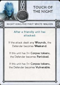 Night King Tactics Card